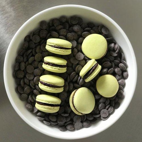 Macarons - Trufado de Chocolate Amargo